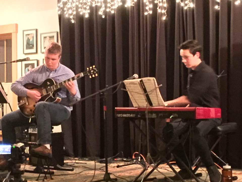 Thatcher Harrison and Warren Pettey playing at Sandywoods Center for the Arts