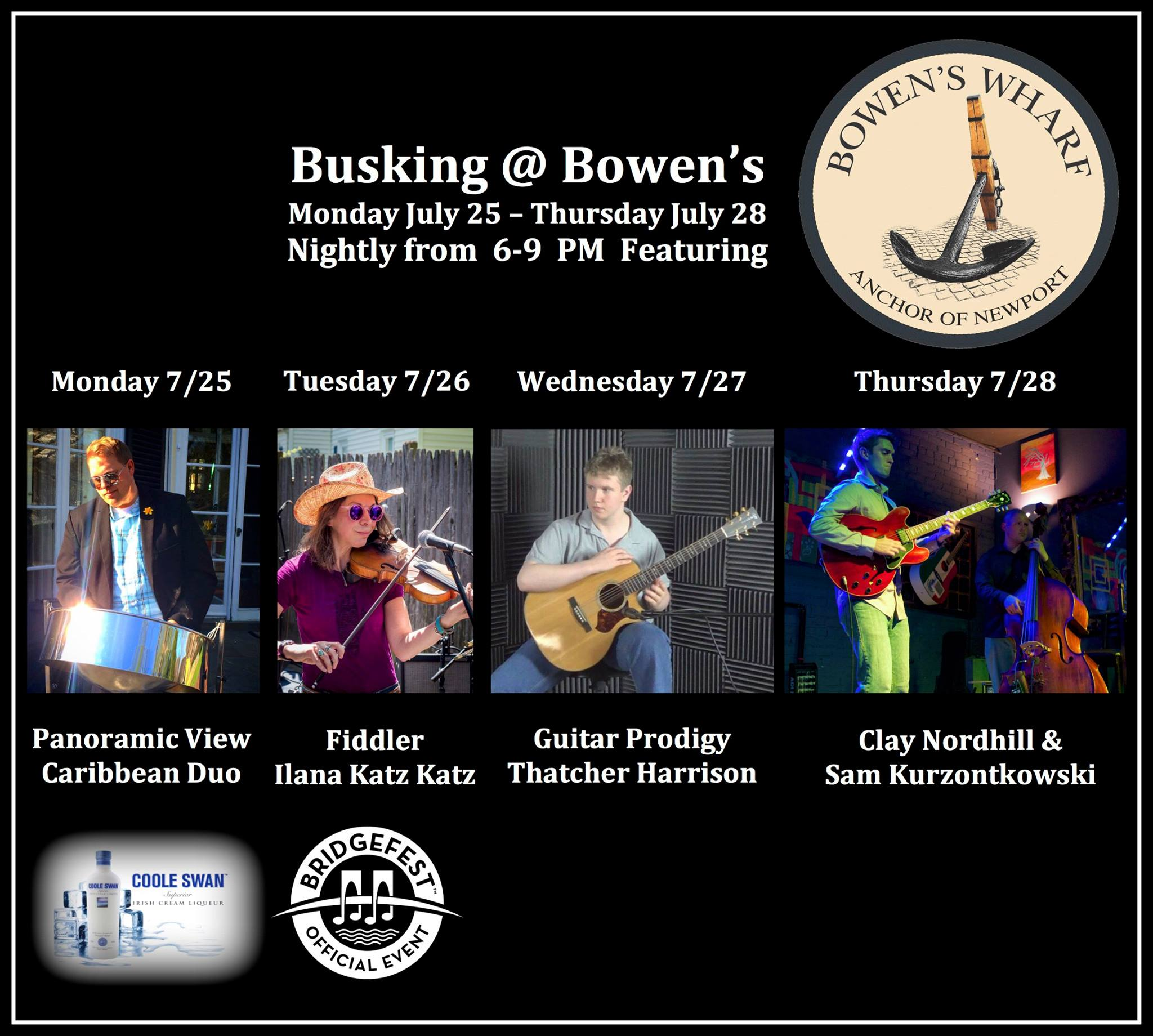 Busking at Bowen's Playbill Featuring Thatcher Harrison